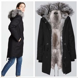 Mackage fur lined parka coat